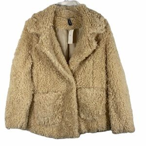 H&M Divided Teddy Coat Cozy Shearling Jacket